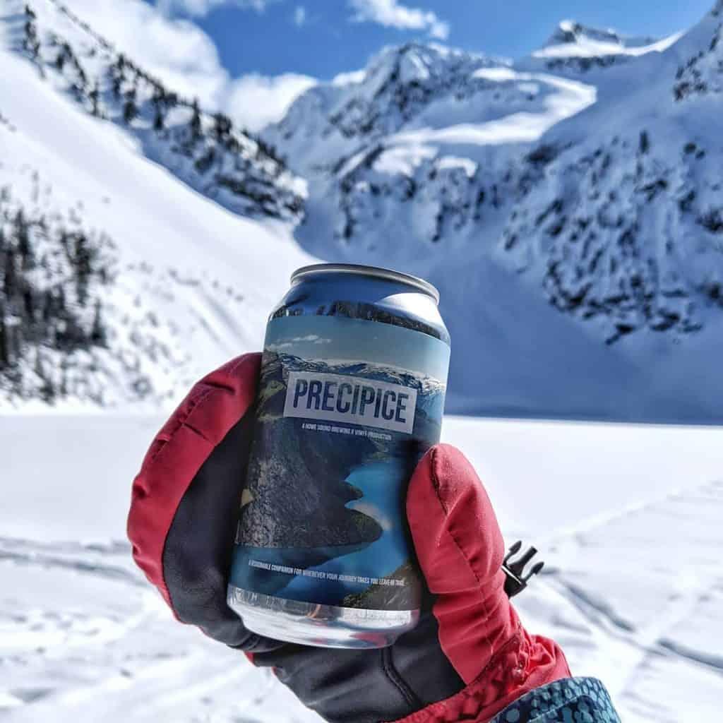 Squamish beer can label design