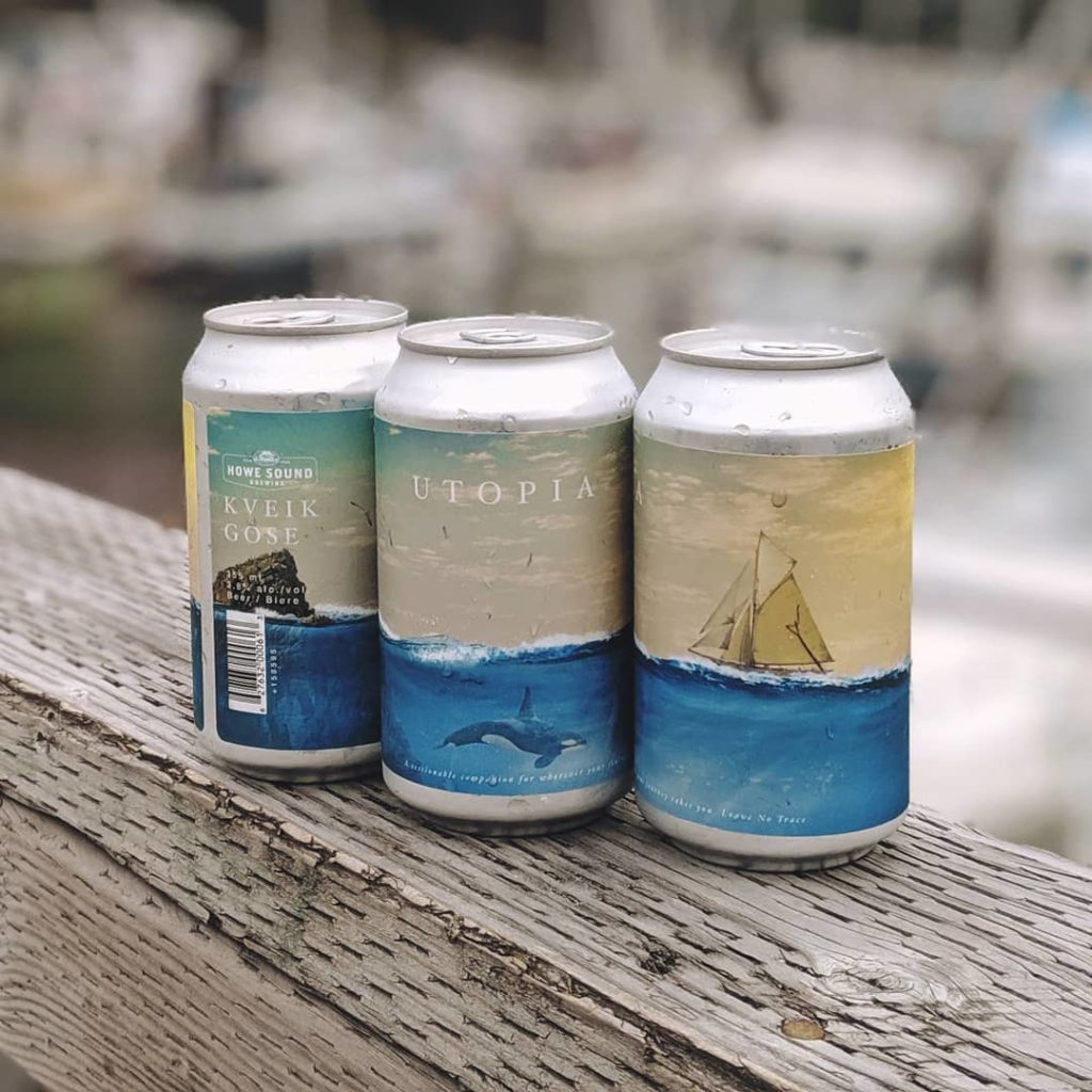 Squamish beer can label