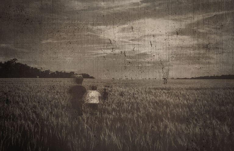 graphic art spooky field