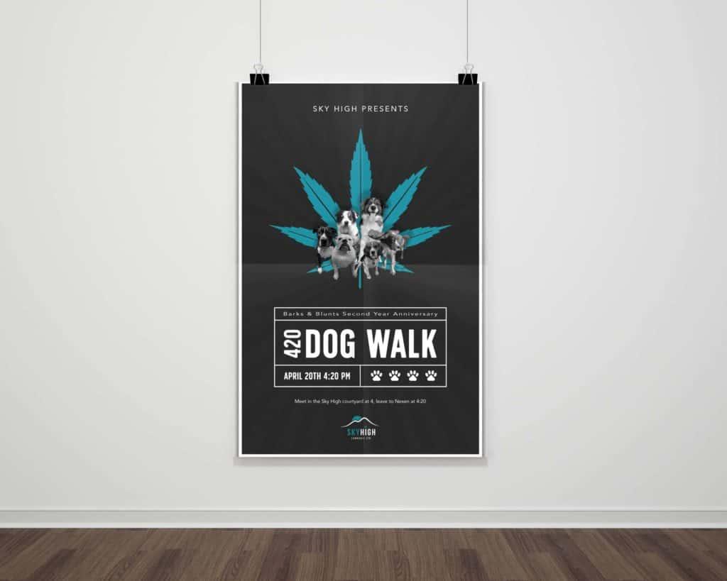 Sky High Cannabis Poster Design